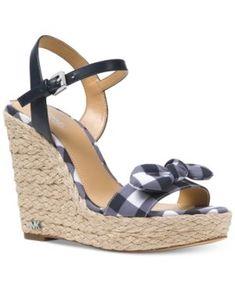 bcaf0ec6d Michael Michael Kors Pippa Gingham Espadrille Wedge Sandals