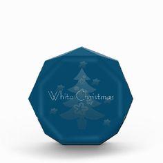 Dreamy White Christmas Tree Silver Star Award