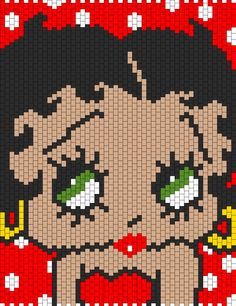 Betty Boop With Green Eyes bead pattern