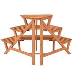 3 Tiers Wooden Corner Plant Ladder Pot Holder Rack Color: Natural wood Material: Chinese fire wood Overall dimensions: x x (L x W x H) Please refer to the picture to get more size information Max weight capacity: 20 lbs Product weight: lbs Wooden Plant Stands, Diy Plant Stand, Plant Ladder, Buffet Plate, Outdoor Furniture Plans, Pine Furniture, Corner Plant, Craft Booth Displays, Garden Shelves