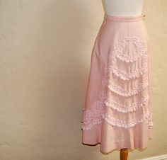 Pink Cotton Candy Vintage 1950s Embellished Circle by LolaAndBlack, $50.00