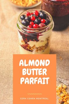 This recipe uses almond butter to take the traditional yogurt parfait to the next level. Almond butter adds richness, protein and flavor for a satisfying, healthy morning parfait. Parfait Recipes, Kinds Of Fruits, Low Fat Yogurt, Yogurt Parfait, Recipe Steps, Shredded Coconut, Best Breakfast, Almond Butter, Recipe Using