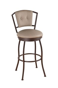 Callee Bristol Swivel Stool with Padded Back