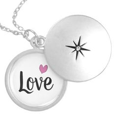 Love with a Heart Locket Necklace - girly gift gifts ideas cyo diy special unique