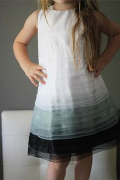 NEW Grey Layers Party dress charcoal white by heidiandfinnstudio, $65.00