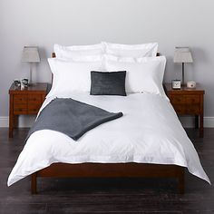 Buy John Lewis Easycare Egyptian Cotton Satin Stitch Bedding Online like the look of this bed set up