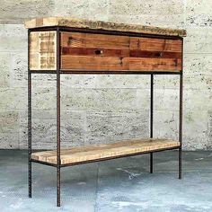 Redial created this wonderful minimalist upcycle design side table called DOCKYARD out of waste from a construction site – upcycleDZINE