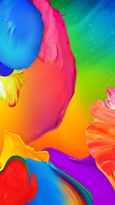 Painting colorful wallpaper, Paint, color, gamma, blend, iPhone, Android, Full, Wallapaper