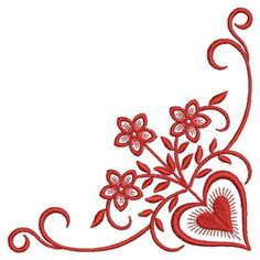 Redwork Romance Embroidery Designs 111413 secrets of Boarder Designs, Border Embroidery Designs, Machine Embroidery Designs, Embroidery Patterns, Embroidery Hearts, Embroidery Works, Hand Embroidery, Henna Heart, Quilt Corners