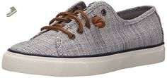 Sperry Top-Sider Women's Seacoast Fashion Sneaker, Navy/Ivory, 7 M US - Sperry sneakers for women (*Amazon Partner-Link)