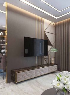7 Versatile Tips AND Tricks: False Ceiling Design For Restaurant false ceiling kitchen hoods.L Shaped False Ceiling Design false ceiling office conference room. Luxury Living Room, Room Design, Tv Wall Design, Bedroom Design, Ceiling Design, House Interior, Living Room Tv Unit Designs, Wall Design, Living Design