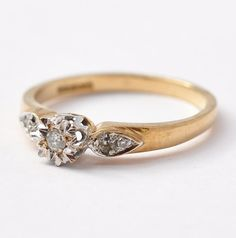 I don't think about weddings much, but I do know I want a vintage diamond ring.