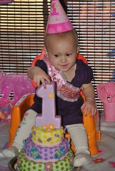 girls 1st birthday cake - Google Search