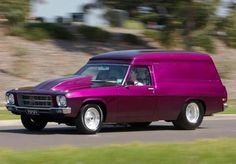 Classic Holden panel van (shaggin' wagon - 'don't come a'knockin' if the van's a'rockin')