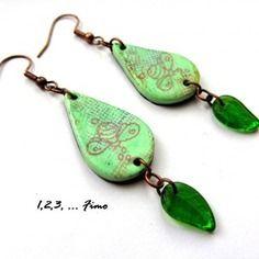 """Boucles d'oreilles """"dans mon jardin ..."""" par 123"""