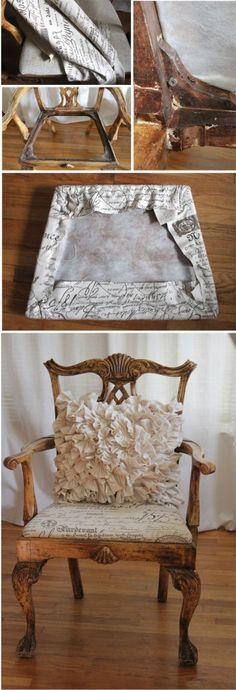 Tutorial para arreglar o tapizar las sillas de tu comedor ...