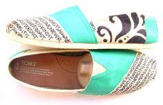 f3b4fcf8f5ba The Iris - TOMS Shoes Teal and Cream Custom TOMS