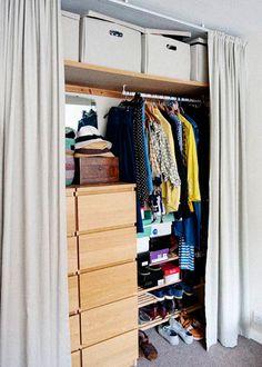 DIY studio closet - what if I did this in Aiden's room?