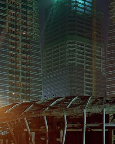 """""""Kai Caemmerer's photos capture the eerie sensation of standing on a silent street surrounded by empty skyscrapers and public spaces devoid of life. For his ongoing series Unborn Cities, Caemmerer. Ghost City, Ghost Towns, Futuristic City, Futuristic Architecture, Future Of Science, Cities, High Rise Apartments, Changsha, Modern City"""