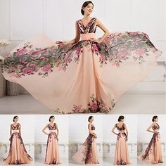 PLUS SIZE 2-24W Sexy Women Vintage Wedding Evening Party Formal Long Prom Dress