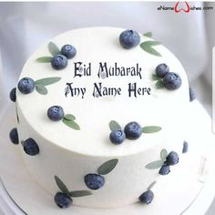 Write name on Amazing Blackberry Eid Wish Name Cake with Name And Wishes Images and create free Online And Wishes Images with name online. - Happy Eid Mubarak Wishes  IMAGES, GIF, ANIMATED GIF, WALLPAPER, STICKER FOR WHATSAPP & FACEBOOK