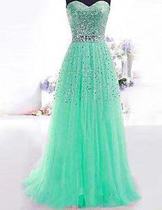 Formal Evening Dress A-line Sweetheart Floor-length Sequined Dress – USD $ 49.99