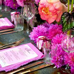 Event Designer and Stylist Jason James Design. Wedding designer, birthday designer, christening and baby shower floral. Pretty in Pink