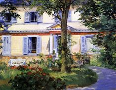 The Athenaeum - MANET, Edouard French Realist-Impressionist (1832-1883)_The House at Rueil- 1882