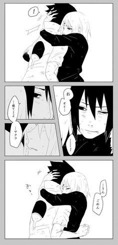 anime couple, love, sakura, sasuke, sasuke uchiha
