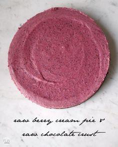 raw berry pie + raw chocolate crust