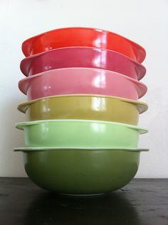 pyrex 024 bowl collection by em_pdx, via Flickr