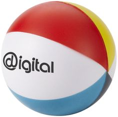 Balón de playa anti-stress.  Material: Espuma pu  Dimensiones: 6,30 cms. de diámetro.
