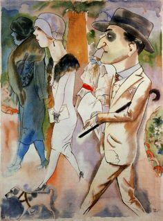 "George Grosz (*1893 als Georg Ehrenfried Groß in Berlin, gestorben 1959 in Berlin)| ""Spring in Paris"", 1925"