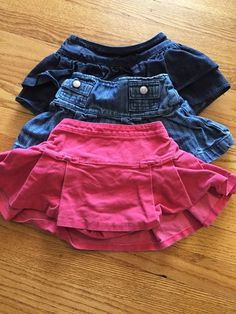 Lot of 3 Toddler Girls Skirts 18 24 Months Pink and Jean Baby Gap Gymboree | eBay