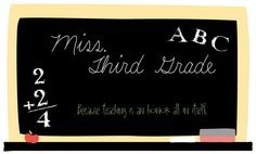 Miss Third Grade has a GREAT blog- and she's a first year teacher!! How does she find the time to do this?!?