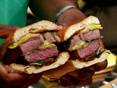 Grilled Ribeye Sandwich Video : Food Network - FoodNetwork.com