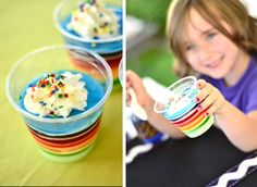 love the rainbow jello snacks Love The Day Crayon Party Week:: The Set-Up