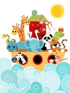 I love this one just add a rainbow. Designscrapbook: New...Noah's Ark!