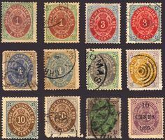 Danish West Indies #5-15 1874-79 Nice Mint & Used Lot