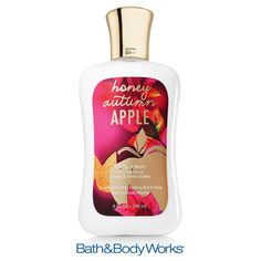 NEW Honey Autumn Apple Body Lotion — nourish your skin with our fresh blend of crisp red apple, sparkling nectarine and a touch of honey! ♥ #LUVBBW