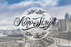 Nino Script is a decorative tattoo typeface. It has a wild style and ornamental letters that gives a customized appearance to every word. The font is provided Pretty Fonts, Beautiful Fonts, Cool Fonts, New Fonts, Script Typeface, Hand Lettering Fonts, Handwriting Fonts, Calligraphy Fonts, Font Creator