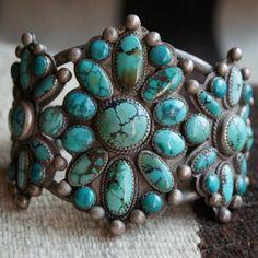 Spiderweb Turquoise Bracelet 1850