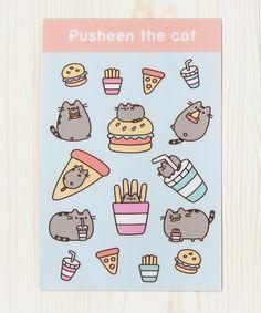 Pusheen Fast Food sticker sheet