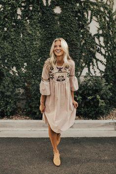 Santa Rosa Embroidered Dress Women's Fashion   #MichaelLouis - www.MichaelLouis.com