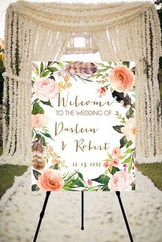 Wedding Welcome Sign  printable welcome sign wedding by Dantell