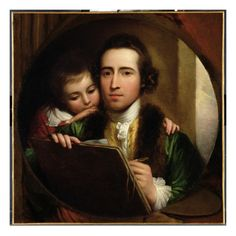 The Artist and His Son Raphael, C.1773 by Benjamin West