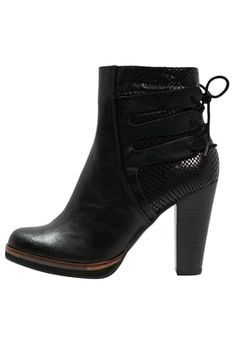 Bottines à plateau - black antic