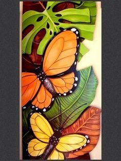 Painting Wood Acrylic 30 New Ideas Butterfly Art, Flower Art, Butterflies, Silk Painting, Painting & Drawing, Wal Art, Creation Art, Tropical Art, African Art