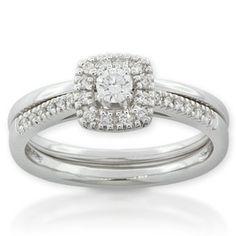 Diamond Wedding Set 14K #Engagement #Ring #Halo