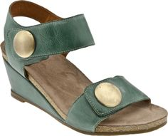 "Taos Carousel Women's Wedge Sandal (Teal). 3"" heels but sooo nice"